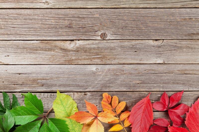 Hölzerner Hintergrund des Herbstes stockfotografie
