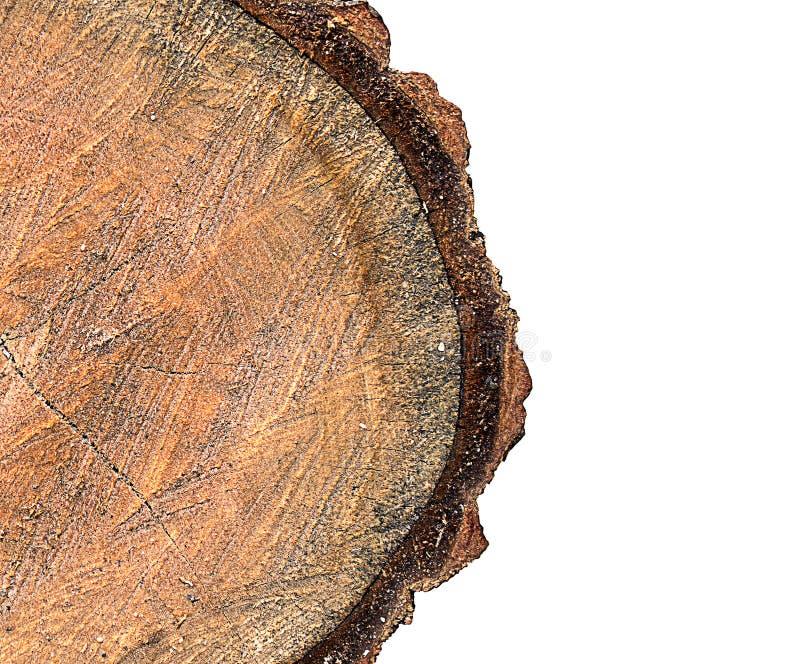 Hölzerner Klotz ein halbes Isolat stockbilder
