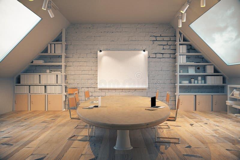 Hölzerner Konferenzsaal lizenzfreie abbildung