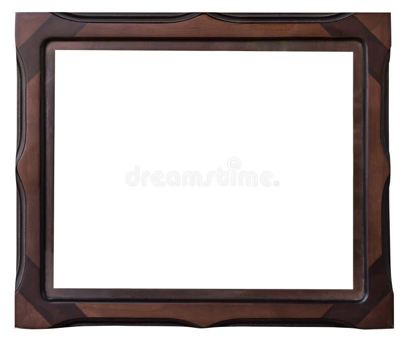 Hölzerner Rahmen Browns des Fotos auf Isolatweiß lizenzfreies stockfoto