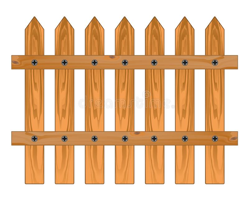 Hölzerner scharfer Zaun stock abbildung
