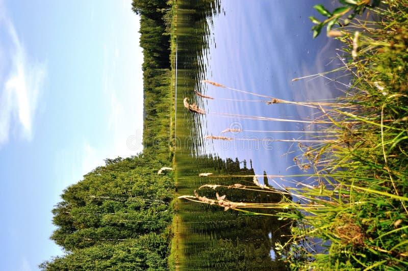 Download Hölzerner See stockfoto. Bild von nave, wolken, sommer - 26351676
