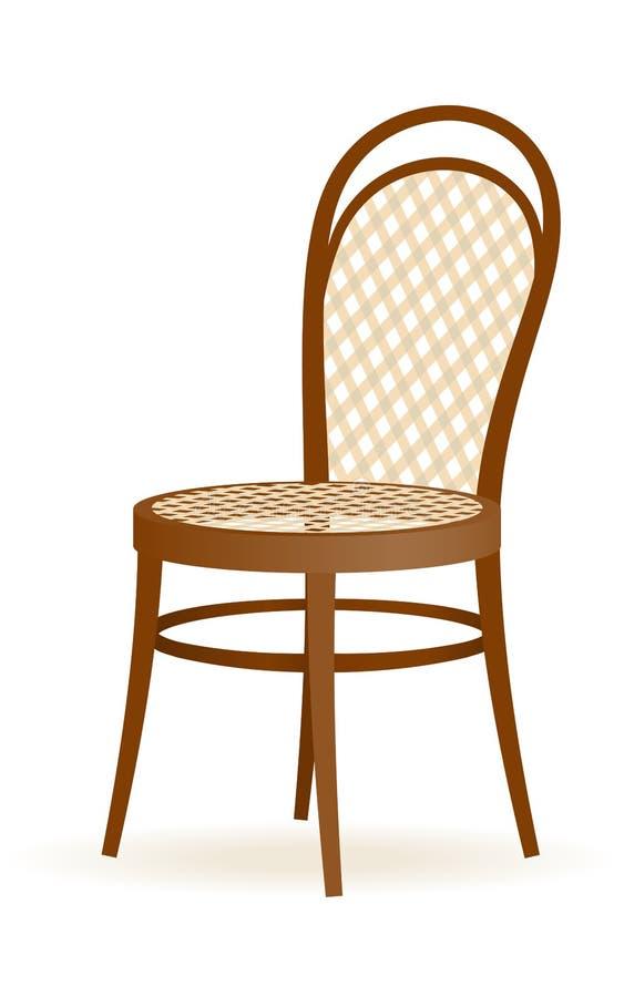 Hölzerner Stuhl vektor abbildung