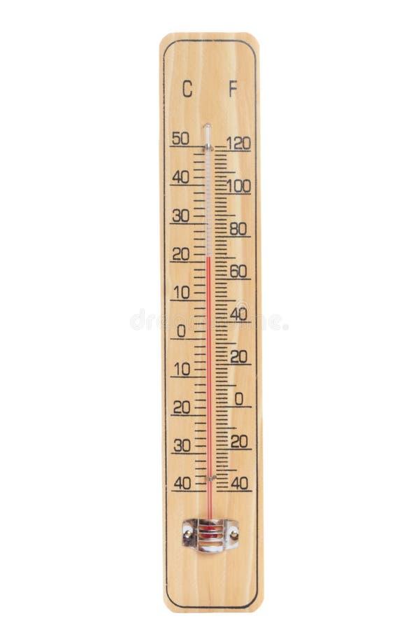 Hölzerner Thermometer lizenzfreie stockbilder