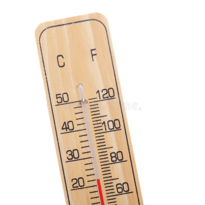 Hölzerner Thermometer lizenzfreie stockfotografie