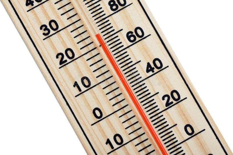 Hölzerner Thermometer stockbilder