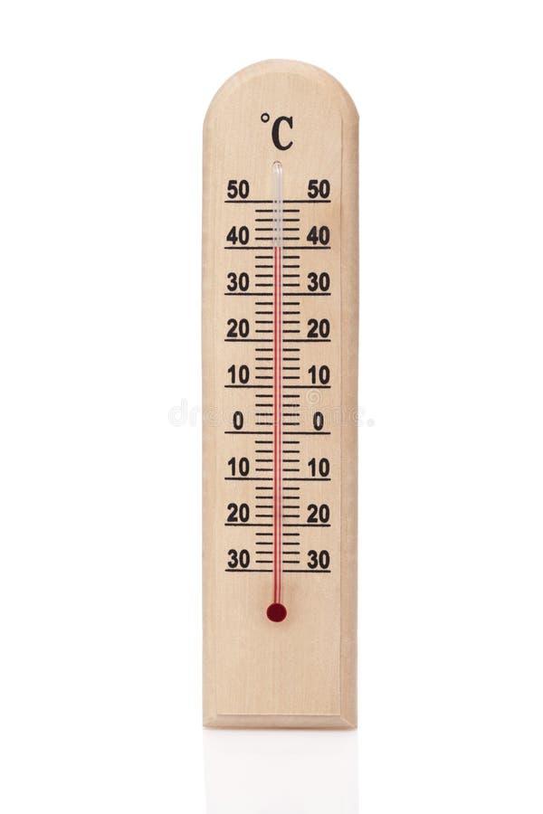 Hölzerner Thermometer stockbild