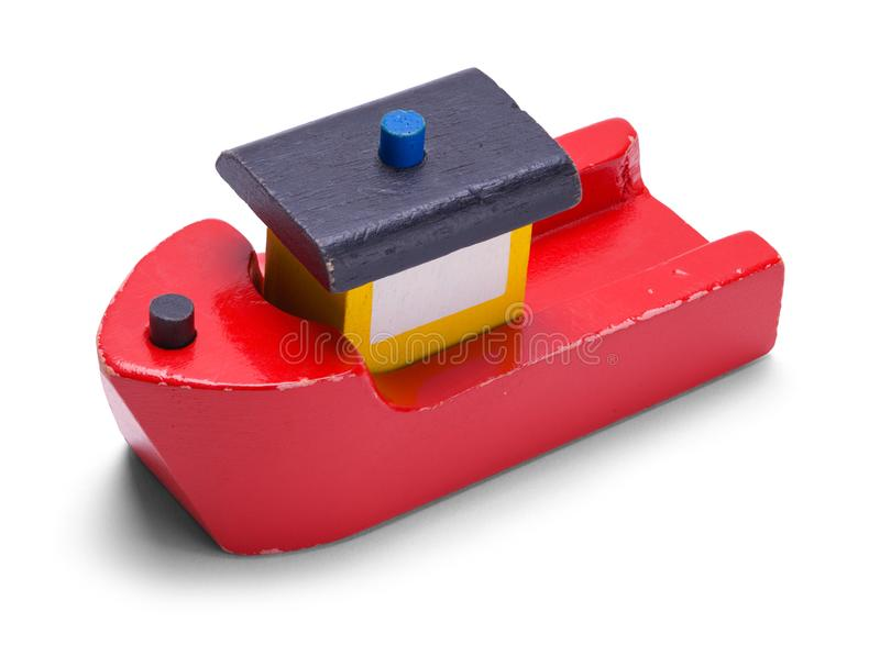 Hölzerner Toy Boat stockfotografie