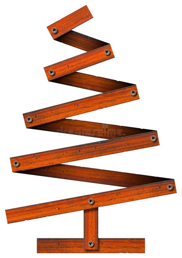 Download Hölzerner Und Stilisiert Weihnachtsbaum Stock Abbildung - Illustration von festlich, fall: 26363393