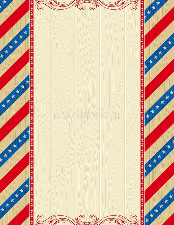 Hölzerner USA-Hintergrund stock abbildung