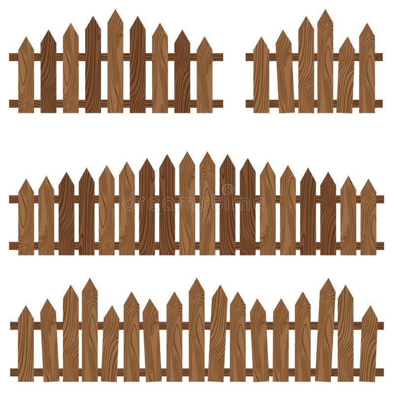 Hölzerner Zaun Bretterzaun auf Hintergrund Brown-hölzerner Zaun lizenzfreie abbildung