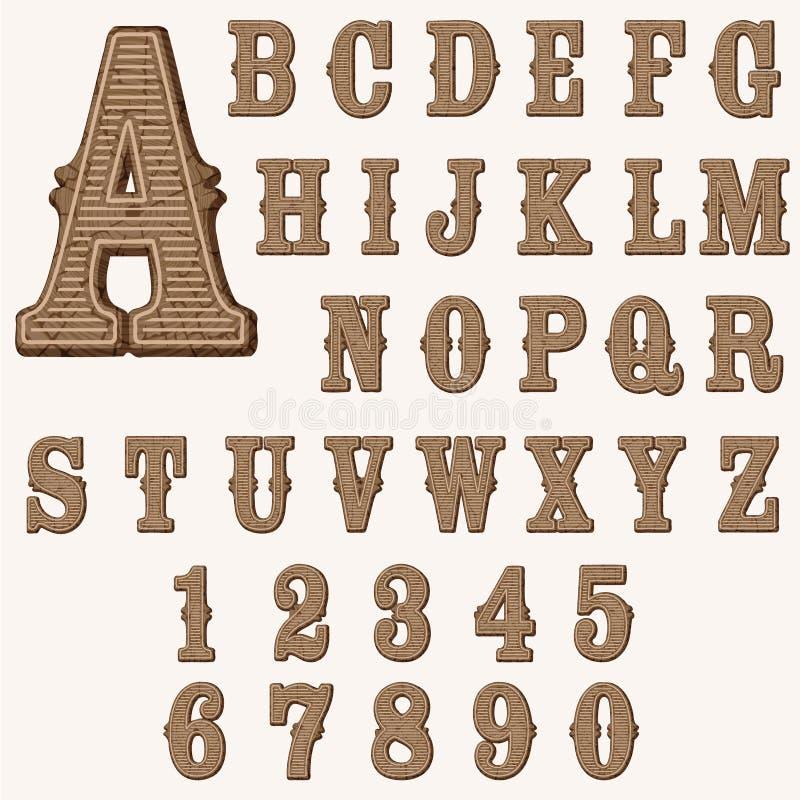 Hölzernes Alphabet vektor abbildung