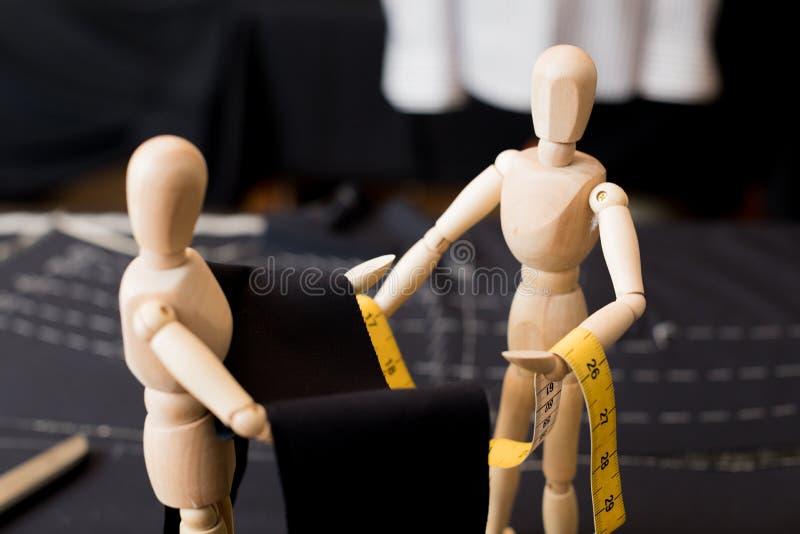 Hölzernes blindes Kleidungsgewebe stockfotografie
