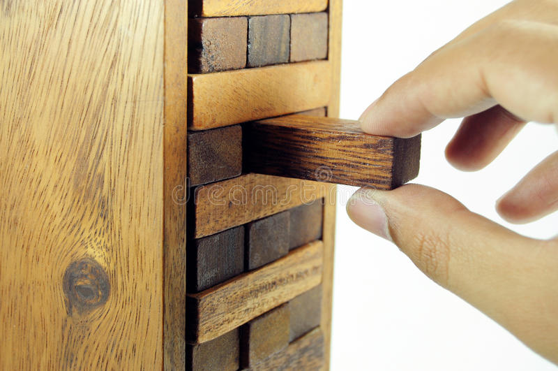 Hölzernes Blockspielzeug lizenzfreies stockfoto