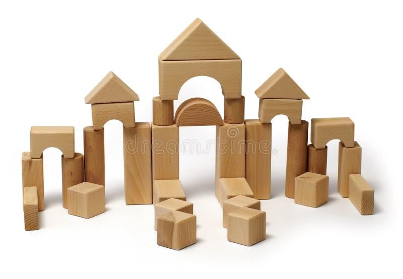 Hölzernes Blockspielzeug stockbilder