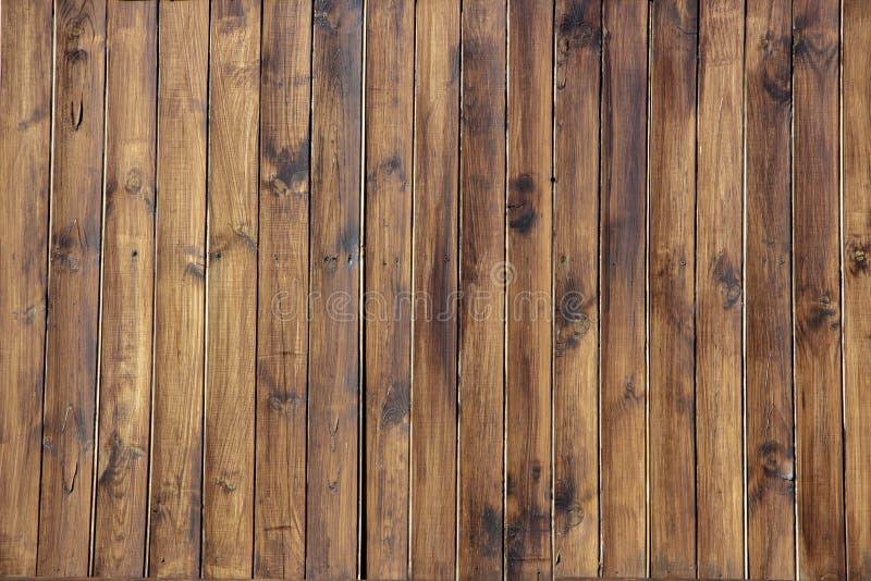 Hölzernes braunes Korngefüge, Draufsicht des hölzernen Wandhintergrundes des Holztischs stockbilder