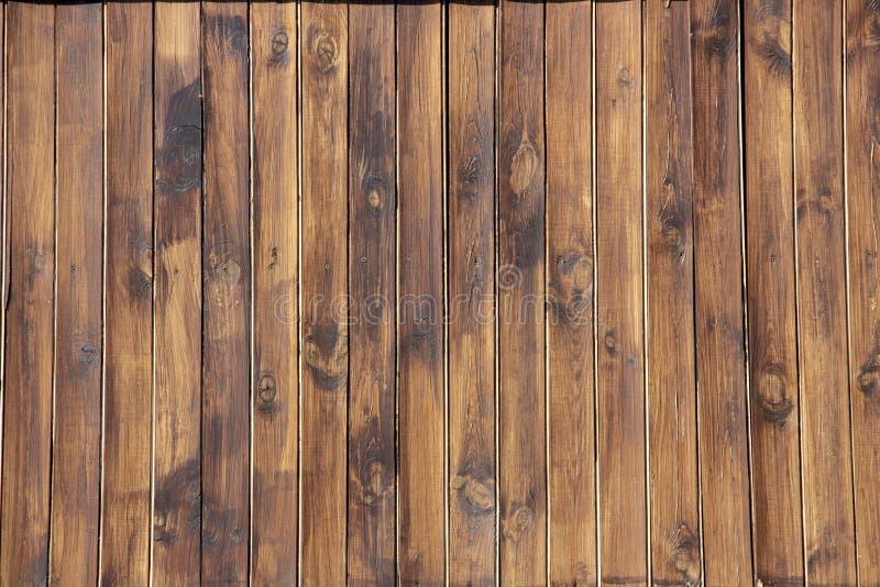 Hölzernes braunes Korngefüge, Draufsicht des hölzernen Wandhintergrundes des Holztischs stockfoto