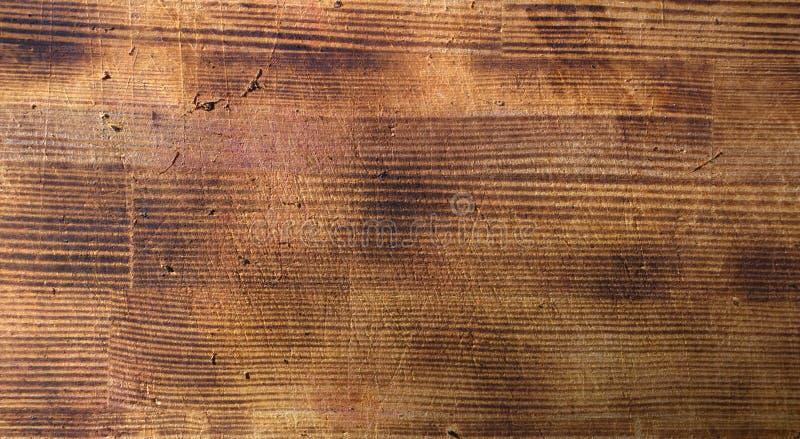Hölzernes braunes Korngefüge, Draufsicht des hölzernen Wandhintergrundes des Holztischs lizenzfreie stockfotografie