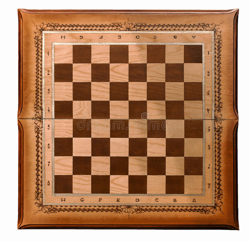 Hölzernes Brett für ein Spiel des Schachs stockbilder