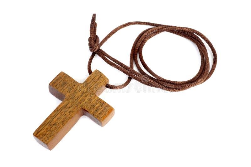 Hölzernes christliches Kreuz lizenzfreies stockbild