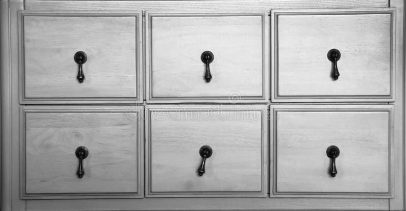Hölzernes Fach der Weinlese im Grau stockfotografie