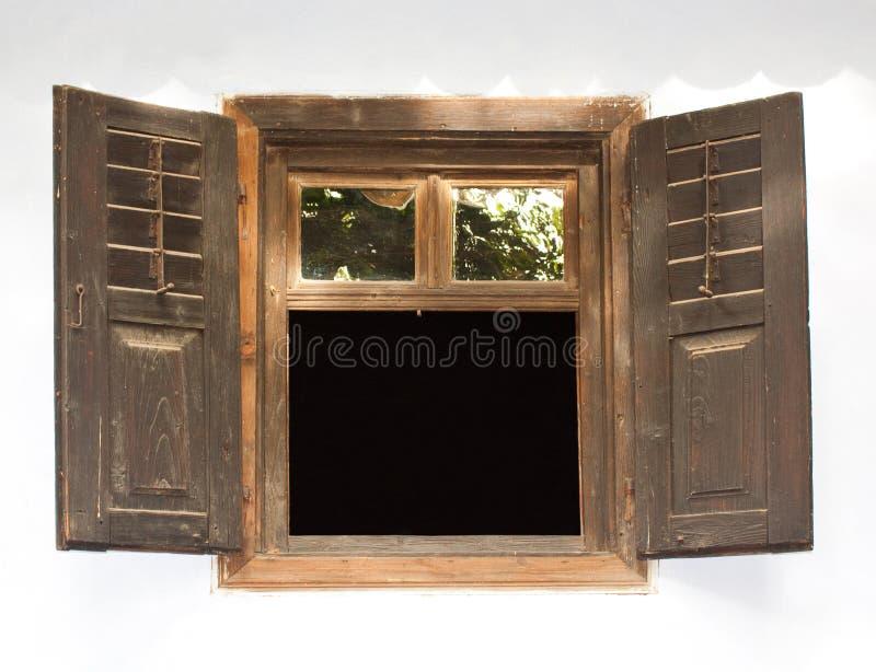 Hölzernes Fenster lizenzfreie stockfotos