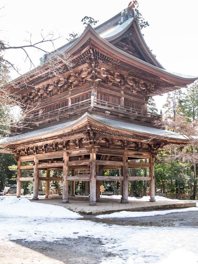 Hölzernes Gebäude in Kamakura lizenzfreies stockbild