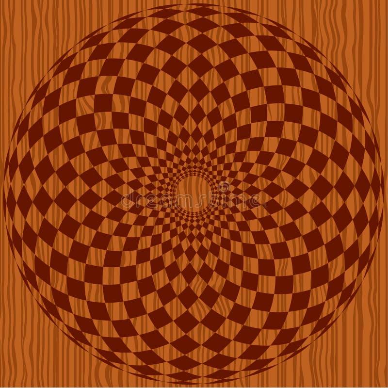 Hölzernes Muster mit Verzierung stock abbildung