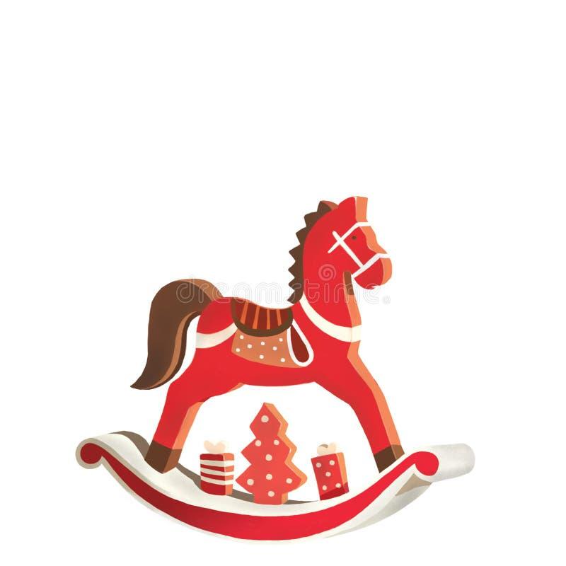 Hölzernes Pferd lizenzfreie abbildung