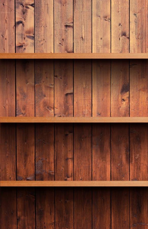 Hölzernes Regal stockbilder
