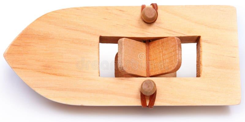 Hölzernes Rubberband angeschaltetes Paddleboat stockfotografie