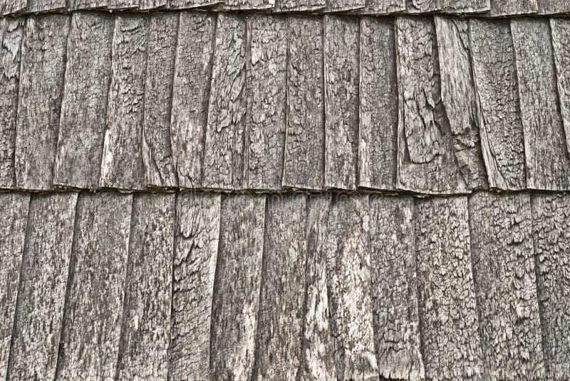 Hölzernes Schindeldach Stockbilder