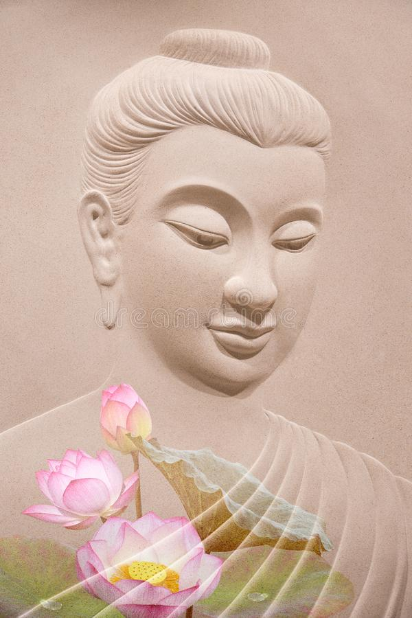 Hölzernes Schnitzen Buddhas stockbilder