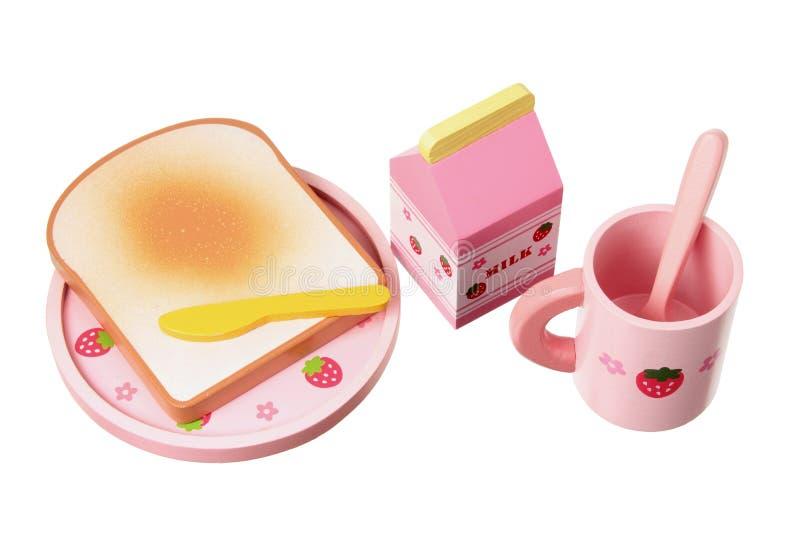 Download Hölzernes Spielzeug-Frühstück-Set Stockfoto - Bild von getrennt, weiß: 26353436