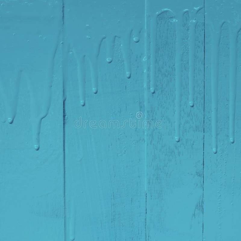 Hölzernes Wandbild durch Ölfarbfarbe mit strömendem Tropfenfängerbeschaffenheitsmuster, 1:1, blaue Pastellfarbe lizenzfreies stockfoto