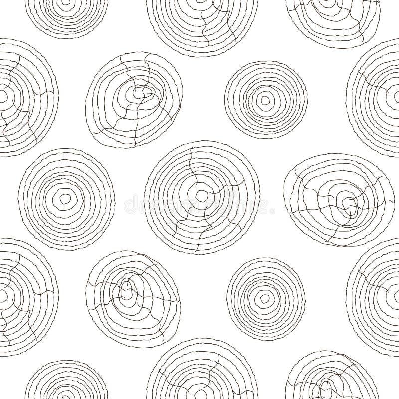 Hölzernes weißes Muster des nahtlosen Korkens Hölzerner Beschaffenheitsvektorhintergrund vektor abbildung