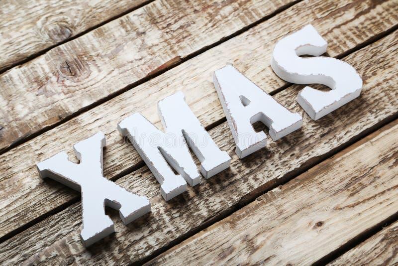 Hölzernes Weihnachten lizenzfreies stockbild