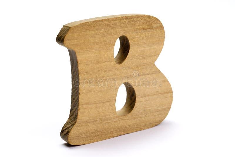 Hölzernes Zeichen B stockbild