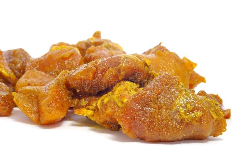 höna marinated meat fotografering för bildbyråer