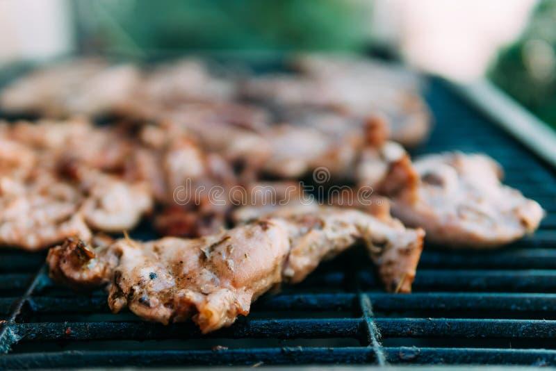Hönainsatser på grillfest royaltyfria foton