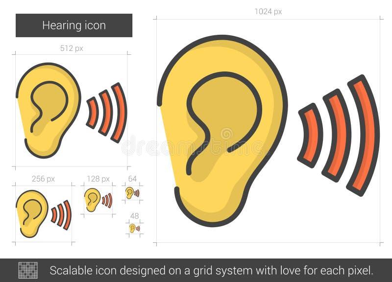 Höralinje symbol vektor illustrationer