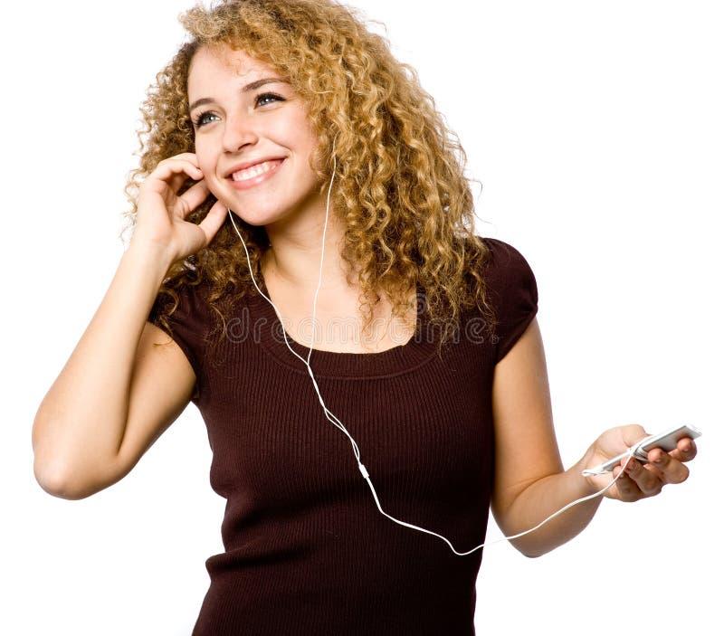 Hören Musik lizenzfreie stockfotografie