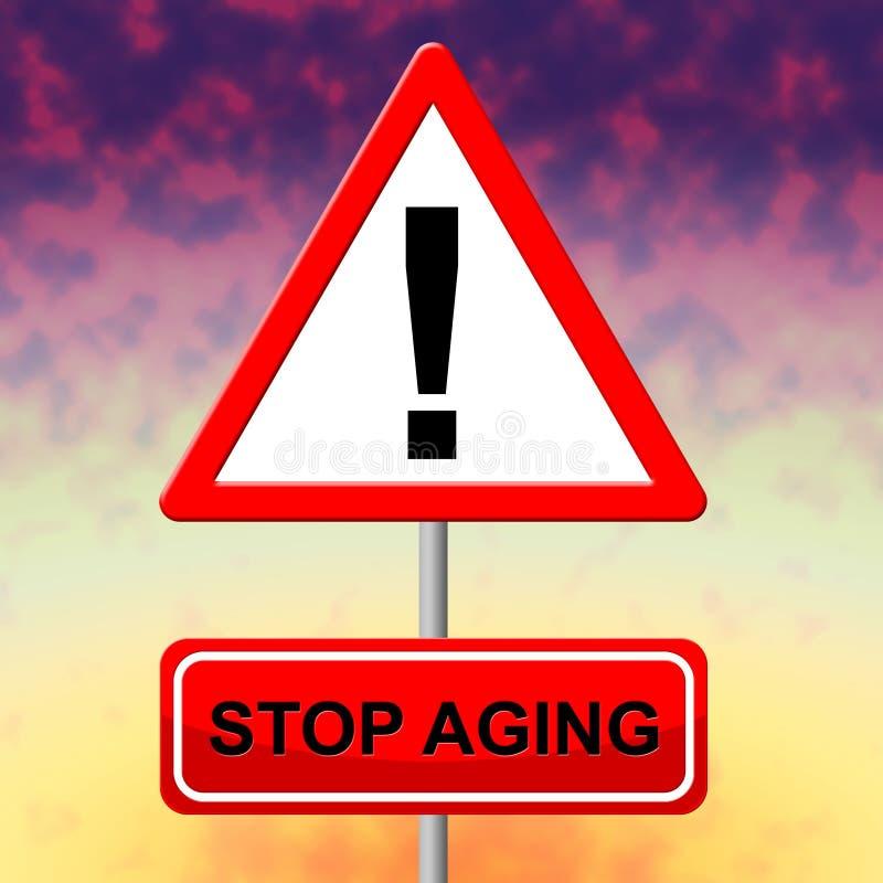 Hören Sie auf, den jungen und degenerativen Show-Aufenthalt zu altern stock abbildung