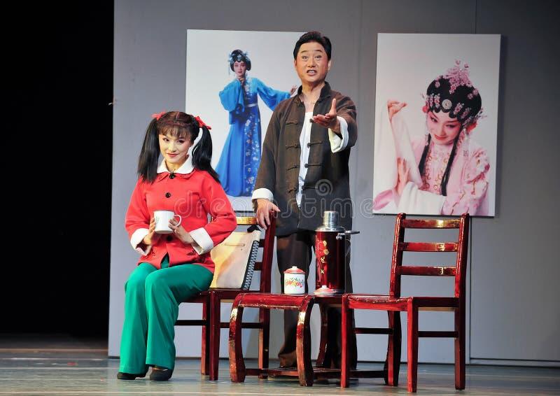 Hören Sie auf den Mantel Führung Geschichtejiangxis OperaBlue stockbilder
