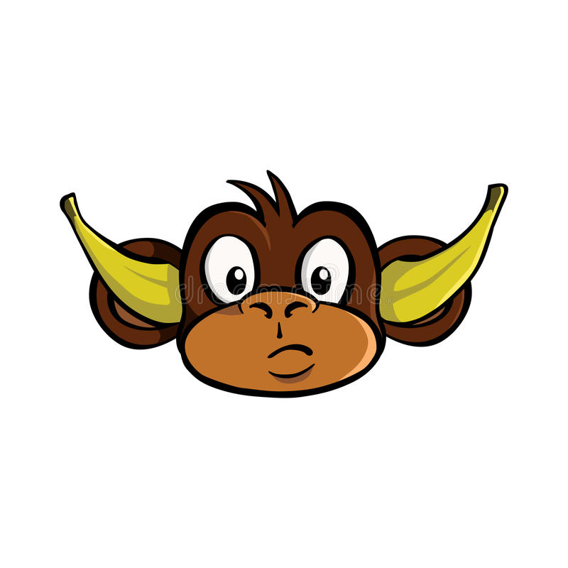 Hören Sie keinen schlechten Affen stock abbildung