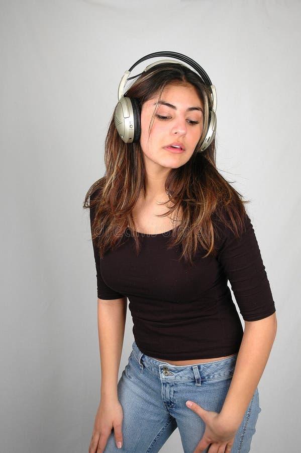 Hören zu music-6 lizenzfreies stockbild
