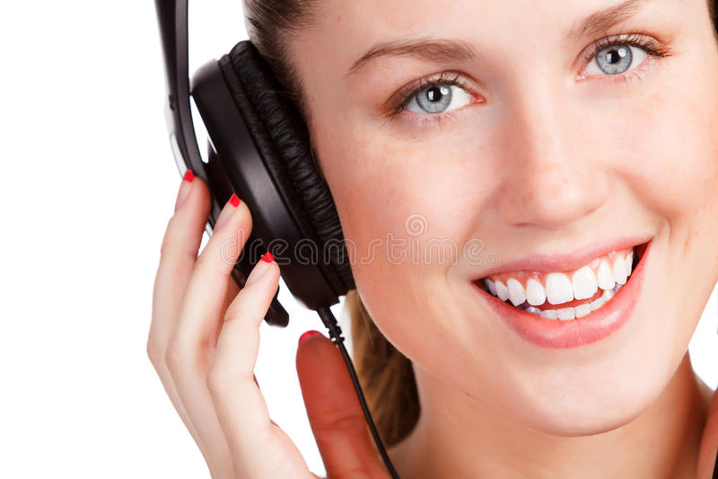 Hörende Musik des recht jungen Mädchens lizenzfreies stockbild