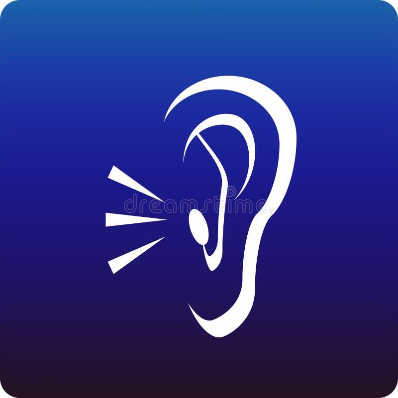 Hörfähigkeit stock abbildung