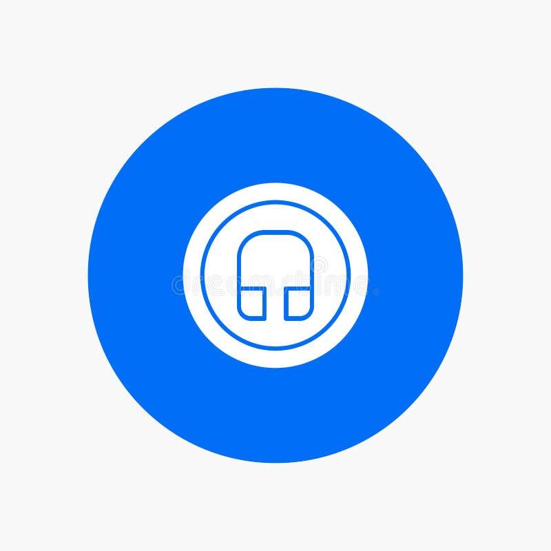 Hörlur Headphone som är grundläggande, Ui vektor illustrationer