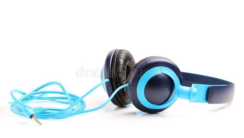Hörlurar för musik. arkivbild